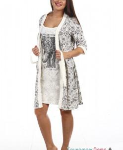 Комплект женский Индия (сорочка и халат)