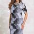 Платья Модель 7483/1 серый с чёрным VITTORIA QUEEN      Прои
