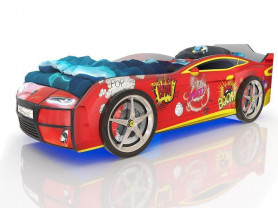 Кровать в виде машины с 3d дизайном