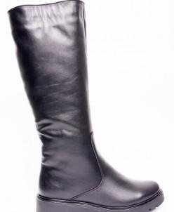 Сапоги из натуральной черной кожи №80-4 (идеал)