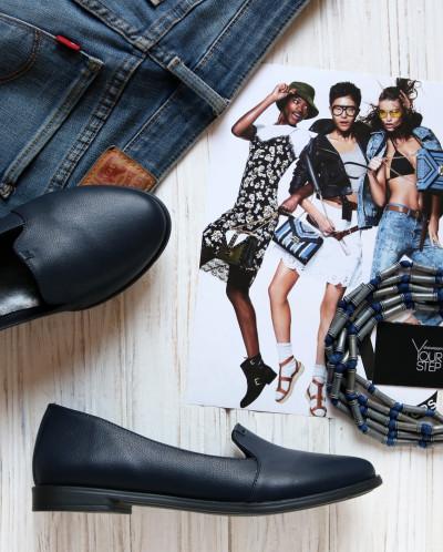 Кожаные стильные туфли - слиперы. New Collection 18