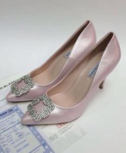 Туфли  -  розовые кожа   ЛЮКС