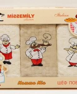 Кухонные Вафельные Полотенца Салфетки с Вышивкой 45x70 см. 3