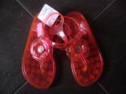 Новые резиновые шлепанцы с застежками. Размер 28.