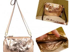 Новая стильная сумка из мятой кожи Италия