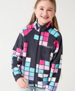 Флисовая поддева CROCKID  Крокид куртка для девочки ЗИМА