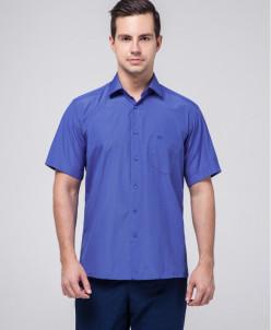 Мужская рубашка Rotelli удобная цвет электрик