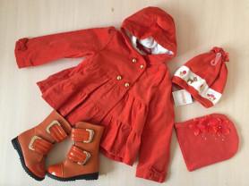 пальто + берет + сапоги