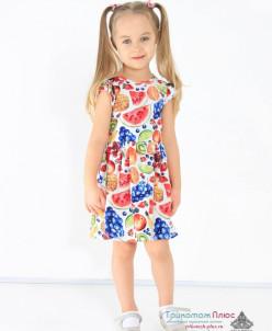 Платье детское Хайди (кулирка с лайкрой)