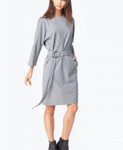 Платье из костюмной ткани в клетку