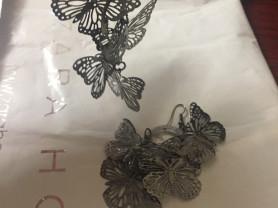 Объемные серьги бабочки