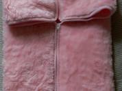 Конверт-плед розовый новый