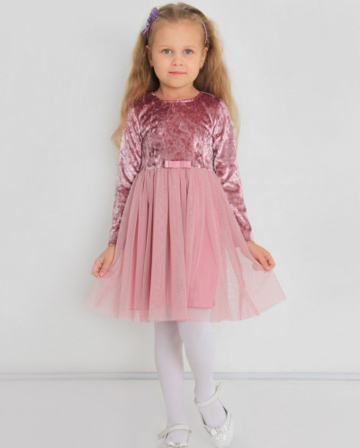 Платье детское Паулина (бархат,сетка)