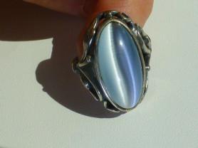 перстень серебро 925* + нат.кошачий глаз