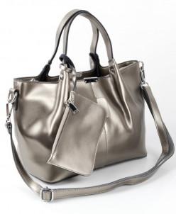 Женская кожаная сумка 8656-1 Сильвер