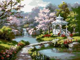 Картины по номерам GX 7847 Беседка у ручья