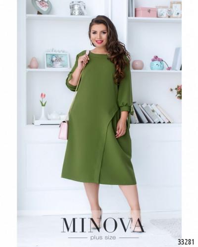 Платье №4095-1-Оливковый