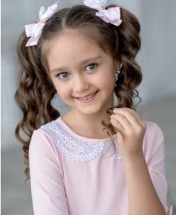 Трикотажная блузка Б*лисса розовая