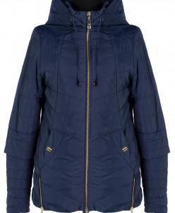 04-1024 Куртка демисезонная (синтепон 80) Плащевка Темно-син