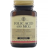 Solgar, Folic Acid, 400 mcg, 250 Tablets