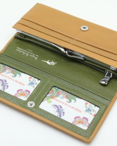 Большой женский кожаный кошелек Sergio Valentini СВ 8041-111