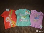 Новые, летние футболочки для девочки 104-110р