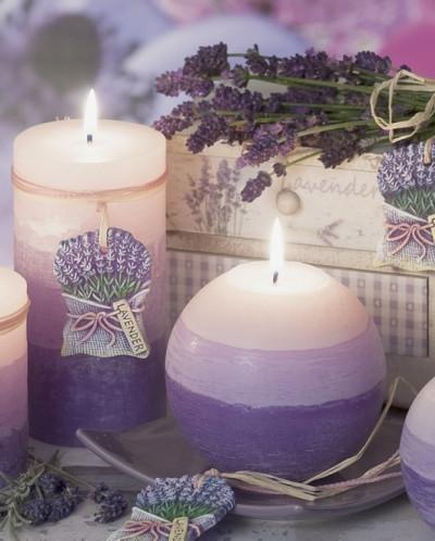 свеча Лаванда Шар 100