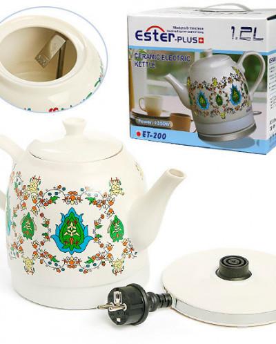 Чайник электрический из керамики 1,2 л