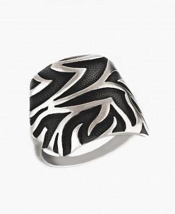 Кольцо из серебра Гамалия с нанокерамикой Юмила