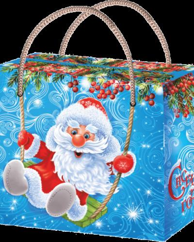Дед Мороз на качелях