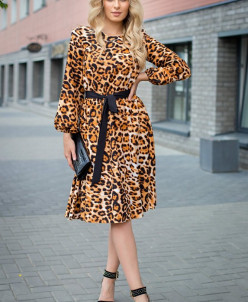 Платье Милена леопард (П-42-6)