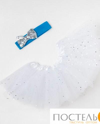 """Набор """"Снежинка"""" юбка и повязка на голову"""