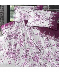 Двуспальный набор постельного белья с тонким покрывалом-Clas