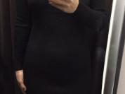 Платье футляр новое М 46 44 48 L U уника оверсайз Шерсть чёрное миди Китай фабричный качество супер мягкое чулок лапша