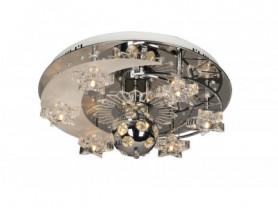 GL.85071-8-S CH Люстра потолочная 8*20Вт G4, пульт