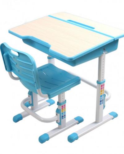 Комплект стол+стул трансформер EVOLIFE Study 2 голубой
