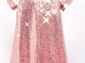 Платье блестящее для девочки