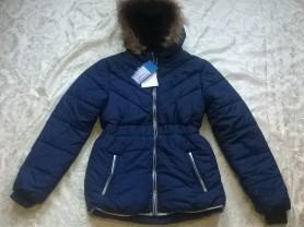 Новая тёмно-синяя осенняя куртка 134р-р и 140р-р