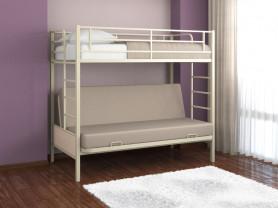 Двухъярусная металлическая кровать-диван Дакар 1,2