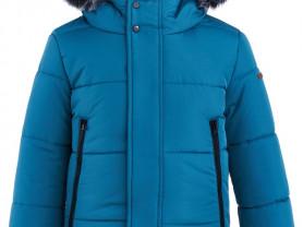 Новая зимняя куртка Button blue, 116-122 см