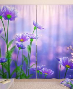Фотошторы Полевые цветы Габардин