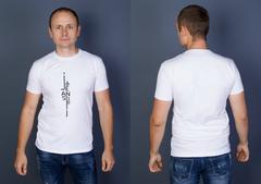 """Футболка Мужская 2202 """"Jeanse-B39"""" Белая"""