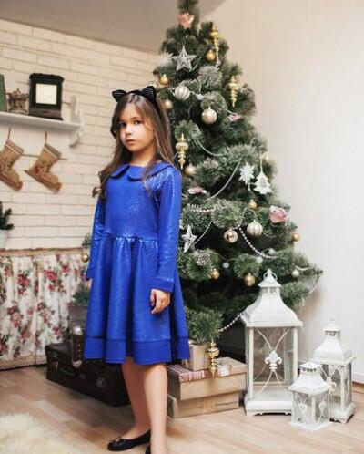 Платье для дочки  с пышной юбкой
