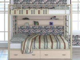 Двухъярусная металлическая кровать Валенсия 120 твист