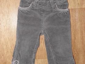 Вельветовые серые брюки GYMBOREE 12-18 мес