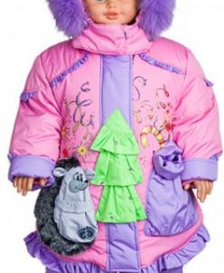 """верхняя одежда для девочки Зимняя модель """"Ёлка"""""""