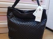 Новая черная кожаная сумка Италия оригинал