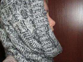 шарф снуд новый вязанный