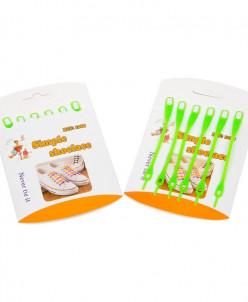 Шнурки силиконовые салатовые (упаковка 6 шт.) арт s005