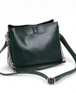 Женская кожаная сумка 1172 Грин